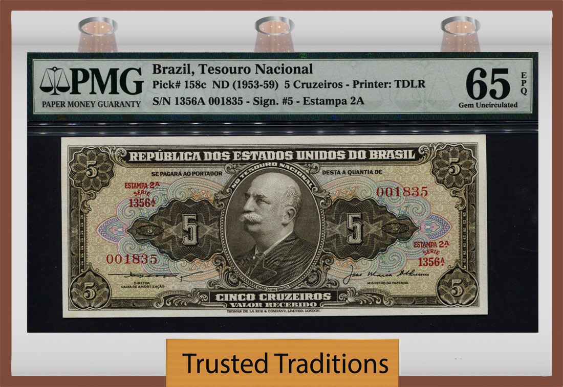 Brazil 50 Cruzeiros ND 1970-81 Pick 194 UNC Uncirculated Banknote