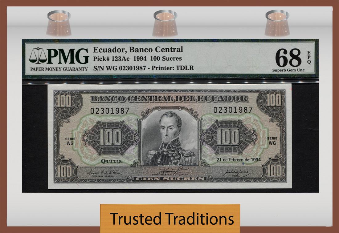 Ecuador Paper Money 10 Sucres 1978 UNC