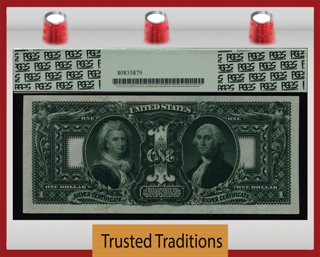 TT FR 225 1896 $1 SILVER CERTIFICATE 4-1 TIMES MORE RARE