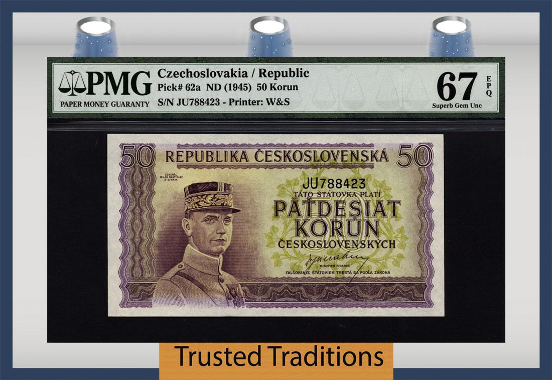P62s Czechoslovakia 50 Korun 1945 UNC
